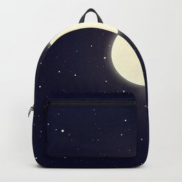 Minimalist Celestial Moon Backpack