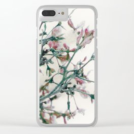 Fantasies in the deep of winter Clear iPhone Case