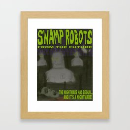 SWAMP ROBOTS Framed Art Print