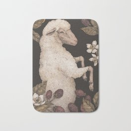 The Sheep and Blackberries Bath Mat