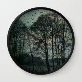 Textured Trees Wall Clock