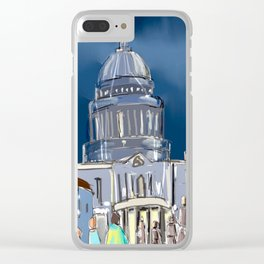 London cityscape abstract Clear iPhone Case