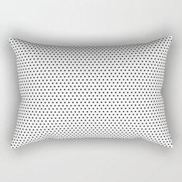 Black & White Pin Dot Rectangular Pillow
