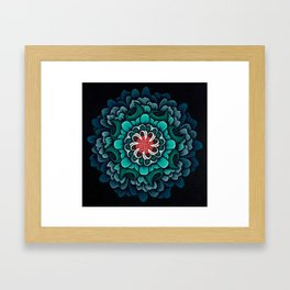 Abstract Floral Mandala Framed Art Print