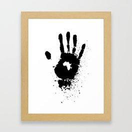 Hand of Africa Framed Art Print