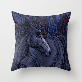 Valor the Mustang Throw Pillow