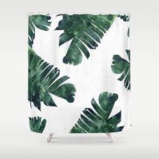 Banana Leaf Watercolor #society6 #buy #decor Shower Curtain