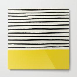 Sunshine x Stripes Metal Print