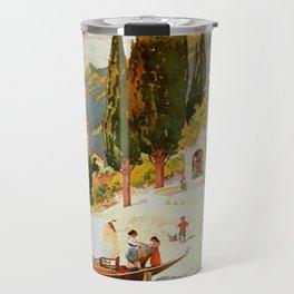 Switzerland and Italy Via St. Gotthard Travel Poster Travel Mug