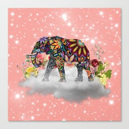 MANDALA ELEPHANT Canvas Print