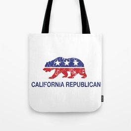 California Political Republican Bear Distressed Tote Bag