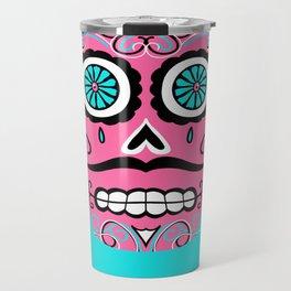Dia De Los Muertos Sugar Skull - Angel Travel Mug