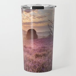III - Blooming heather at sunrise, Posbank, The Netherlands Travel Mug
