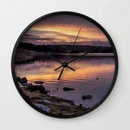 The Derwent Reservoir at sunset Wall Clock