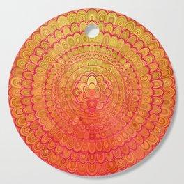Aztec Flower Mandala Cutting Board