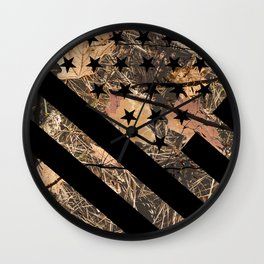 Hunting Camouflage Flag 3 Wall Clock