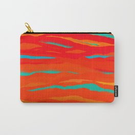 Ripped Turquoise Sunset Sky Carry-All Pouch