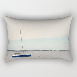 Alone on the Bay Rectangular Pillow