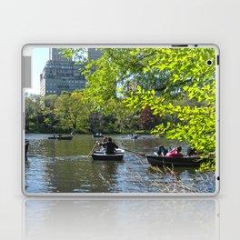 Rowing at Central Park, NYC Laptop & iPad Skin