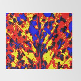 Fire Tree Pop Art Throw Blanket