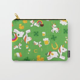 St. Patrick's Day Unicorn Pattern Carry-All Pouch