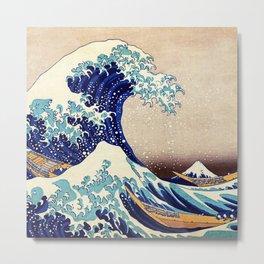 Katsushika Hokusai The Great Wave Off Kanagawa Metal Print