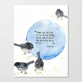 1 Parable of the Sower Series - Birds  Canvas Print