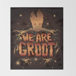 We Are Groot Throw Blanket