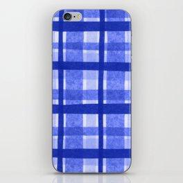 Tissue Paper Plaid - Blue iPhone Skin