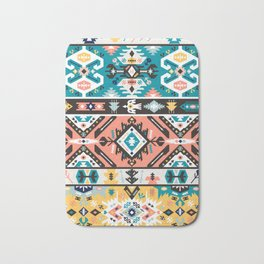 Tribal chic seamless colorful patterns Bath Mat