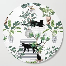 cats in the interior pattern Cutting Board