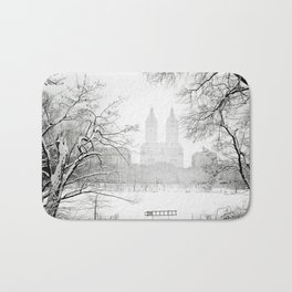 Winter - Central Park - New York City Bath Mat