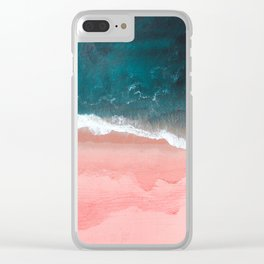 Turquoise Sea Pastel Beach III Clear iPhone Case
