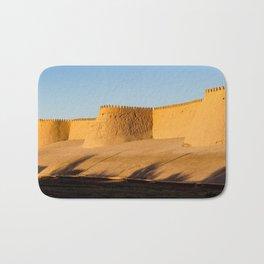 Khiva City Wall - Uzbekistan Bath Mat