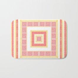 Slavic Square Mandala - Odolen Trava - Symbol Bath Mat