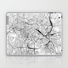 Rome White Map Laptop & iPad Skin