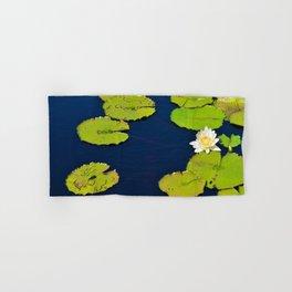 Dark Blue Pond by Teresa Thompson Hand & Bath Towel