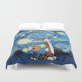 Calvin Hobbes Starry Night Duvet Cover