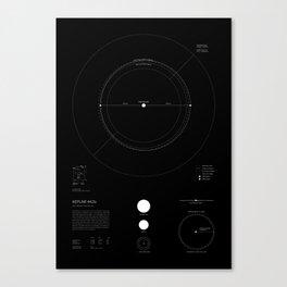 Exoplanet Keplar-442b - Black Canvas Print