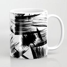 Modern Brush Strokes Black and White Coffee Mug