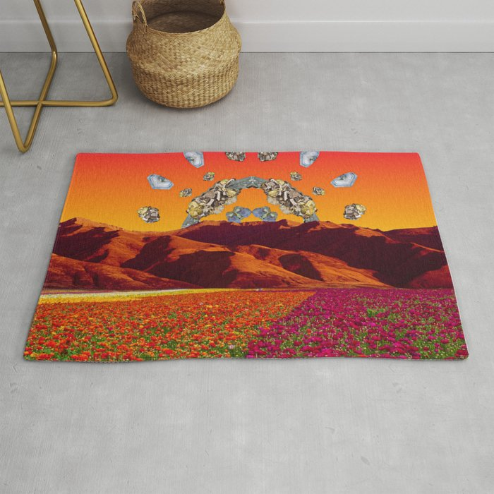 Crystal Sunset by Kooky Collages Rug