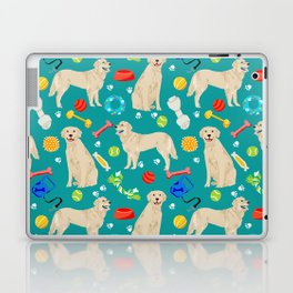 Golden Retriever pet friendly dog breeds dog toys cute dog gifts for dog lovers Laptop & iPad Skin