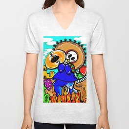 Day of the dead - MARIACHI Unisex V-Neck