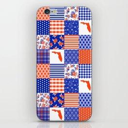 Florida University gators swamp life varsity team spirit college football quilted pattern gifts iPhone Skin
