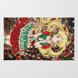 Merry Xmas Usagi Rug