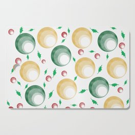 Christmas Balls and Holly Print Cutting Board