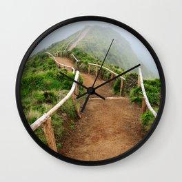 Empty walking trail Wall Clock