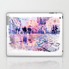 Dublin Watercolor Streetscape Laptop & iPad Skin