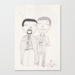 Sam and Scott - flu season Canvas Print