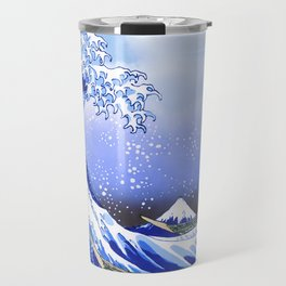 Surf's Up! The Great Wave Travel Mug